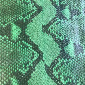 """SKU:10099 NAME:python leather acquarello lux garden green ANIMAL:python leather SPECIE:reticulatus ARTICLE:acquarello lux COLOR:garden green USE:leathergoods, shoes SIZE:27-; 27+;30+ THICKNESS:0,4/0,6 DESCRIPTION:soft, semishinny """