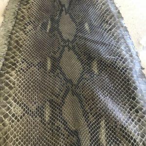 """SKU:10105 NAME:python leather acquarello lux winter leaf ANIMAL:python leather SPECIE:reticulatus ARTICLE:acquarello lux COLOR:winter leaf USE:leathergoods, shoes SIZE:27-; 27+;30+ THICKNESS:0,4/0,6 DESCRIPTION:soft, semishinny """