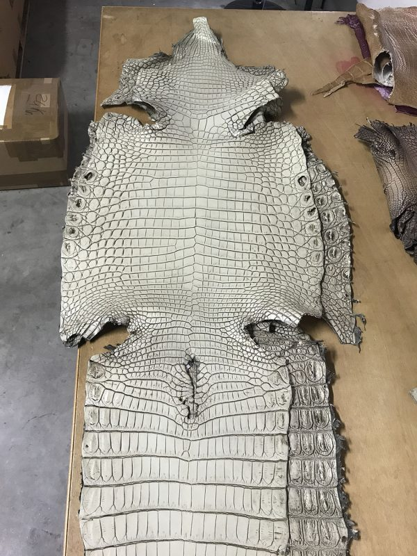 """""""SKU:10125 NAME:crocodile leather lave limo ANIMAL:crocodile leather SPECIE:niloticus ARTICLE:lave COLOR:limo USE:leathergoods, shoes SIZE:36-39, 40-44 THICKNESS:1,0/1,2 DESCRIPTION:vintage, sporty, semishinny, soft """""""