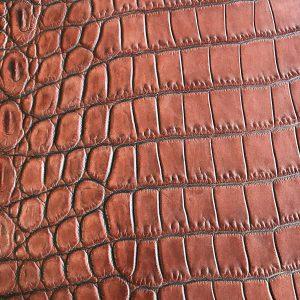 """SKU:10131 NAME:crocodile leather lave canyon ANIMAL:crocodile leather SPECIE:niloticus ARTICLE:lave COLOR:canyon USE:leathergoods, shoes SIZE:36-39, 40-44 THICKNESS:1,0/1,2 DESCRIPTION:vintage, sporty, semishinny, soft """