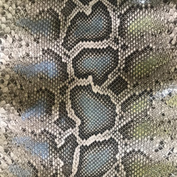 """""""SKU:10150 NAME:python leather ghost peach and mimosa ANIMAL:python leather SPECIE:moluro ARTICLE:ghost COLOR:peach and mimosa USE:leathergoods, shoes, garment SIZE:27+, 30+ THICKNESS:0,4/0,6 DESCRIPTION:soft, shinny """""""