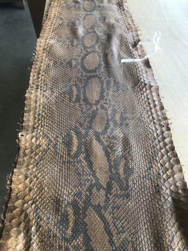 """""""SKU:10170 NAME:python leather oil new banana ANIMAL:python leather SPECIE:reticulatus ARTICLE:oil COLOR:new banana USE:leathergoods, shoes, garment SIZE:27+, 30+ THICKNESS:0,4/0,6 DESCRIPTION:soft, matt, waxy """""""
