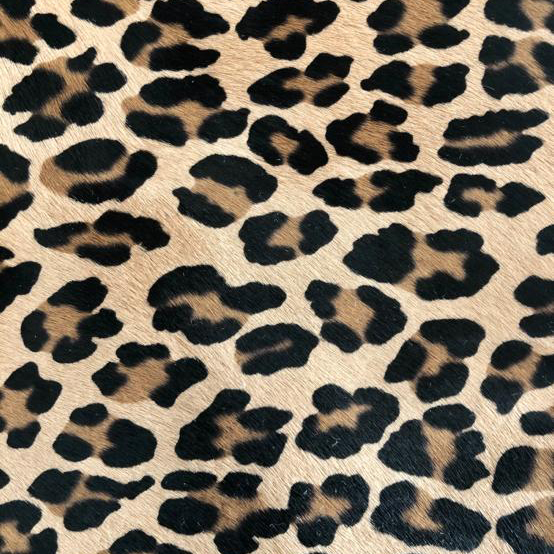"""""""SKU:10197 NAME:calf leather cavallino printed leopard special ANIMAL:calf leather SPECIE:calf ARTICLE:cavallino printed COLOR:leopard special USE:leathergoods, shoes, garment SIZE:04-05 THICKNESS:0,8/1,0 DESCRIPTION:soft, shinny, warm """""""