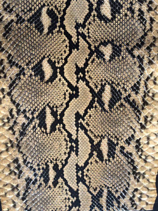 python leather diamond lux biscotto