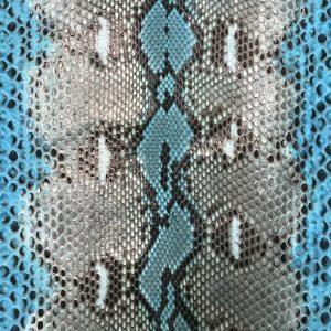 """SKU:59 NAME:python leather rubi scuba blu ANIMAL:python leather SPECIE:reticulatus ARTICLE:rubi COLOR:scuba blu USE:leathergoods, shoes, garment SIZE:27+; 30+; 35+ THICKNESS:0,4/0,6 DESCRIPTION:soft, shinny """