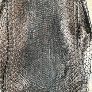 """SKU:10224 NAME:python leather dakota brown 28 ANIMAL:python leather SPECIE:reticulatus ARTICLE:dakota COLOR:brown 28 USE:leathergoods, shoes, garment SIZE:27- THICKNESS:0,4/0,6 DESCRIPTION:soft, matt """