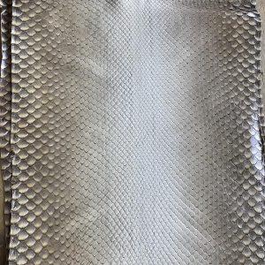 """SKU:10236 NAME:python leather st tropez dk ocra ANIMAL:python leather SPECIE:moluro ARTICLE:st tropez COLOR:dk ocra USE:leathergoods, shoes, garment SIZE:27+, 30+ THICKNESS:0,4/0,6 DESCRIPTION:soft, matt """