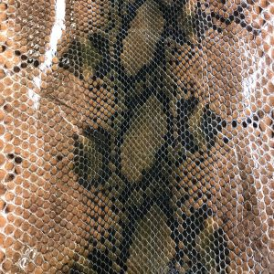 """""""SKU:10245 NAME:python leather degrade deep cuoio ANIMAL:python leather SPECIE:reticulatus ARTICLE:degrade COLOR:deep cuoio USE:leathergoods, shoes, garment SIZE:27-,27+ THICKNESS:0,4/0,6 DESCRIPTION:soft, shinny """""""