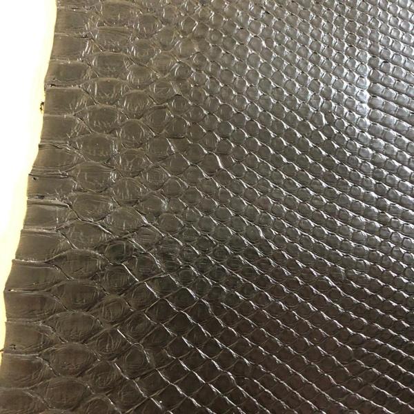 python leather black